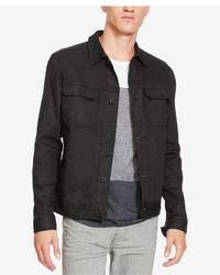 Kenneth Cole New York Coated Denim Shirt Jacket
