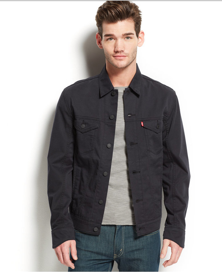 Levi S Commuter Trucker Jacket Black Where To Buy How To Wear