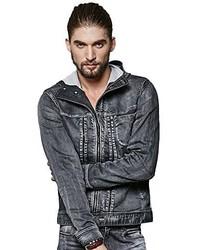 Liveinu Danny Trucker Jeans Denim Jacket With Hood