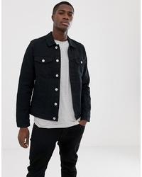 Jack & Jones Denim Jacket In Black