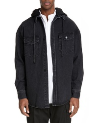 Juun.J Denim Shirt With Detachable Hood
