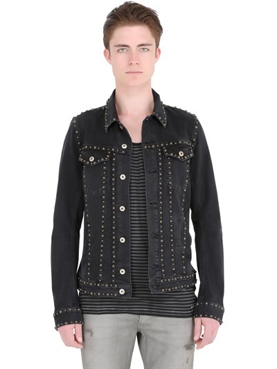 Diesel Studded Soft Stretch Denim Jacket | Where to buy &amp how to wear