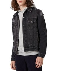 Distressed denim jacket medium 1157505