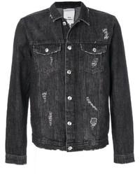 Distressed denim jacket medium 5274833