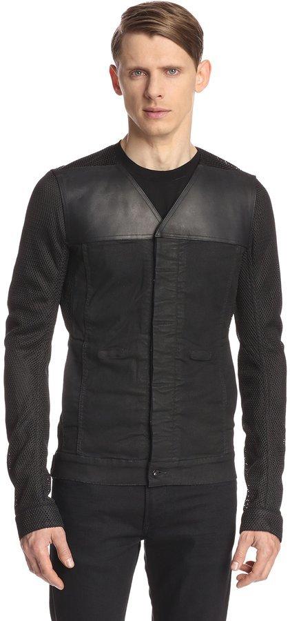 rick owens drkshdw combo hustler mesh survival jacket where to buy