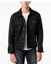 William Rast Erwin Black Coated Denim Jacket