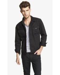 Express Black Denim Jacket
