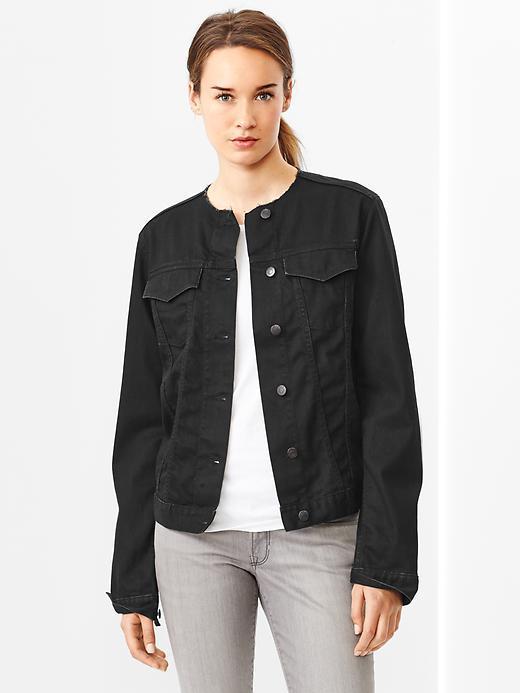 fashion style of 2019 exclusive range strong packing $74, Gap 1969 Collarless Denim Jacket