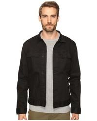 Kenneth Cole Sportswear Washed Coated Denim Jacket Coat
