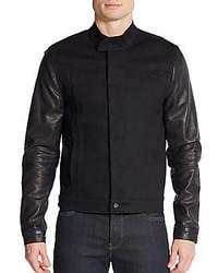 Hudson Leather Denim Jacket