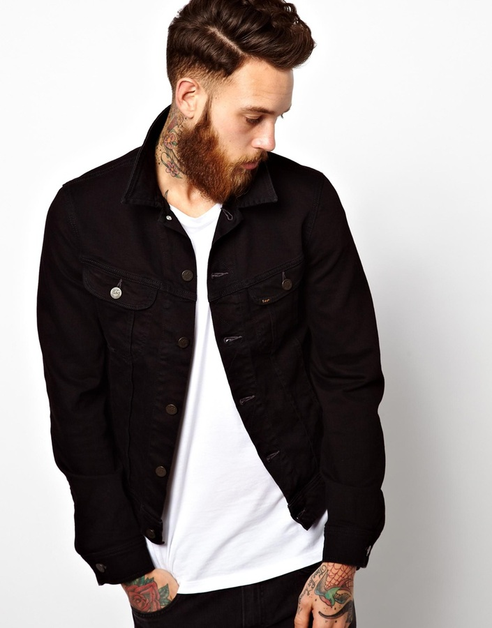 Lee Denim Jacket Slim Fit Rider Stay Black Stretch | Where to buy