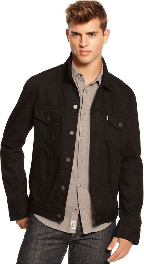 levi 39 s black button down trucker jacket where to buy how. Black Bedroom Furniture Sets. Home Design Ideas