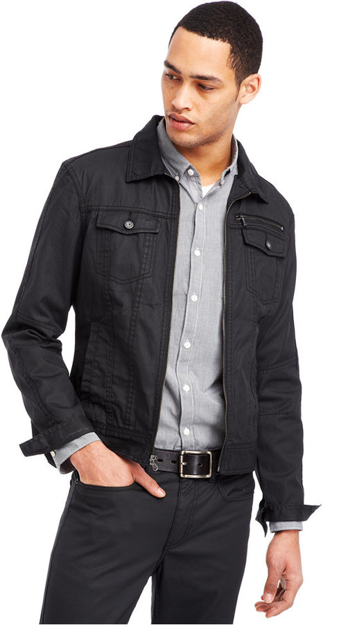 Kenneth Cole Reaction Light Coated Denim Trucker Jacket | Where to ...