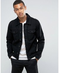 Mango Man Denim Jacket In Black