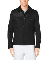 ea5c50e06 Michl Kors Leather Paneled Jean Jacket