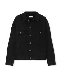 Balenciaga Oversized Embroidered Denim Jacket