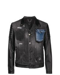 Frankie Morello Panelled Denim Jacket