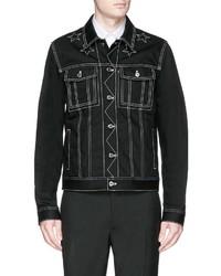 Givenchy Star Stitching Denim Jacket