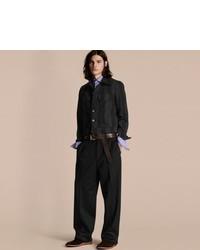 Burberry Striped Raw Denim Jacket