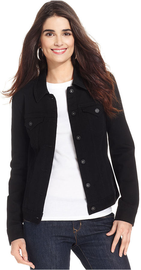 Plus Size Black Jean Jacket | Bbg Clothing