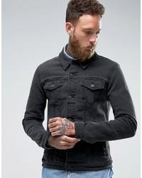 3bd051626bc2 ... Asos Super Skinny Denim Jacket In Black ...