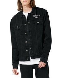 Topman Toman Albany Chain Stitch Denim Jacket