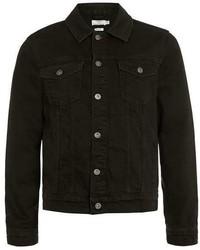 Topman Washed Black Denim Western Jacket