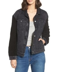 Levi's Trucker Jacket With Fleece Sleeves