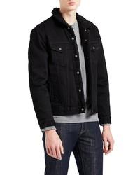 Levi's Type Iii Faux Fur Lined Denim Trucker Jacket