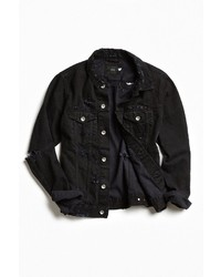 Urban Outfitters Uo Damaged Denim Trucker Jacket