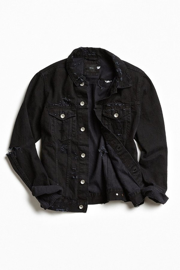 Black denim jacket urban outfitters