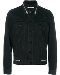 Zip trim denim jacket medium 3947603
