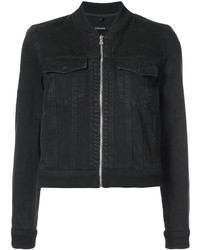 J Brand Zipped Denim Jacket