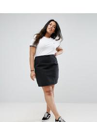 Asos Curve Curve Denim Mini Skirt In Washed Black