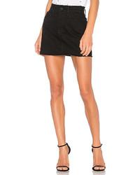 Frame Denim Frayed Le Mini Skirt