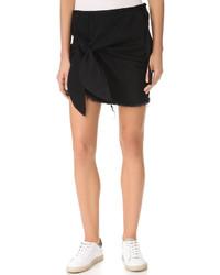 MARQUES ALMEIDA Denim Knotted Mini Skirt