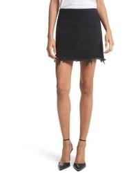 Alexander Wang Denim X Frayed Miniskirt