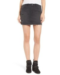 Evidnt Destroyed Denim Miniskirt