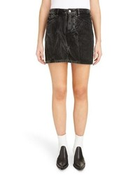 Givenchy Marble Wash Denim Skirt