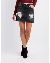 0d899875a0 Charlotte Russe Plus Size Refuge Lace Up Detail Denim Mini Skirt Out of  stock · Charlotte Russe Refuge Destroyed Denim Mini Skirt