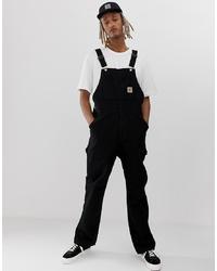 Carhartt WIP 100% Organic Cotton Black Dungarees
