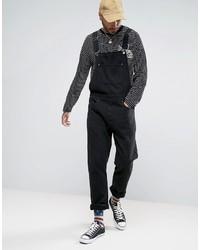 Denim overalls in black medium 3757239