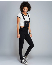 Wet Seal Skinny Denim Overalls | Where to buy & how to wear