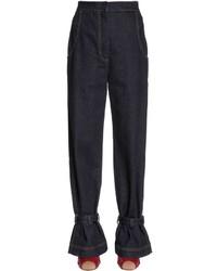 Fendi Gabardine Pants W Ankle Straps