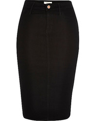 Black denim pencil skirt medium 534662