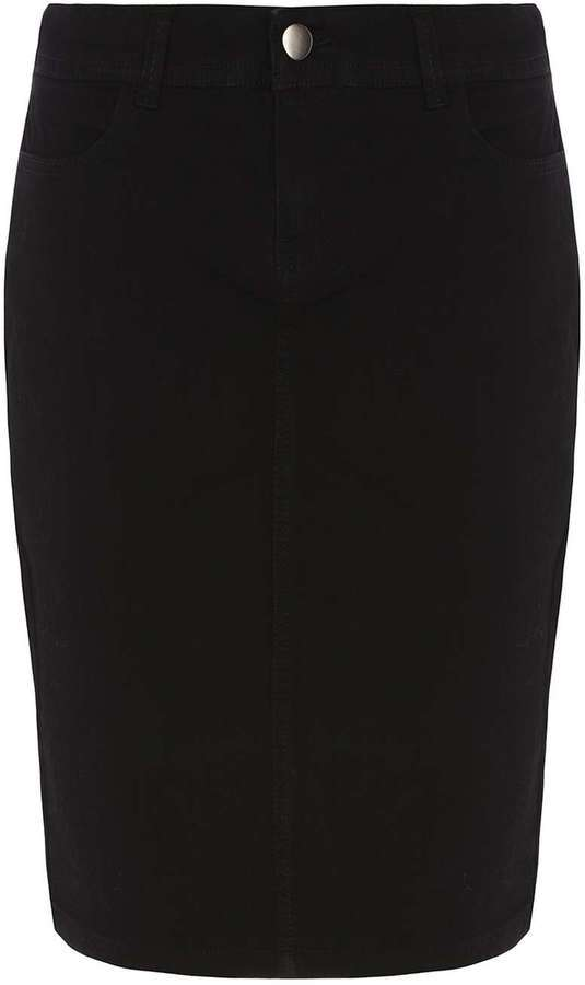 Dorothy Perkins Black Denim Pencil Skirt | Where to buy & how to wear