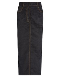 Isa Arfen Velvet Touch Denim Pencil Skirt