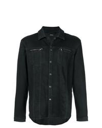 Black Denim Shirt Jacket