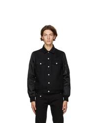 Alexander McQueen Black Denim Bomber Jacket