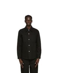 AMI Alexandre Mattiussi Black Denim Over Shirt